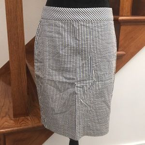 J. Crew Seersucker Pencil Skirt, NWOT